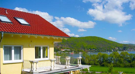 Haus Schloßblick mit Blick auf den Edersee